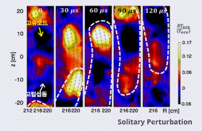 Solitary perturbations in the steep boundary of magnetized toroidal plasma: Discovering the mechanisms behind reliable nuclear fusion