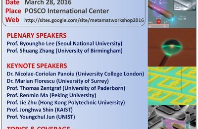 The 2nd International Nanophotonics Workshop (Frontiers in Metamaterials and Plasmonics)